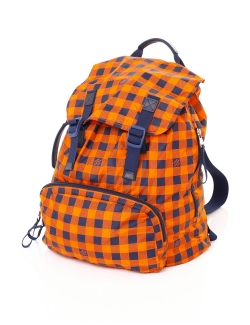 SAC A DOS LOUIS VUITTON ADVENTURE DAMIER MASAI ORANGE ET BLEU PLIABLE NYLON