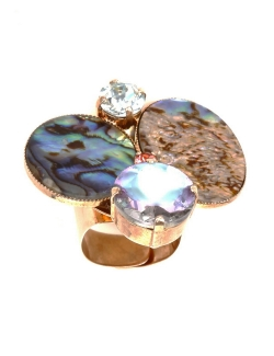 BAGUE REMINESCENCE NACRES ET BRILLANT
