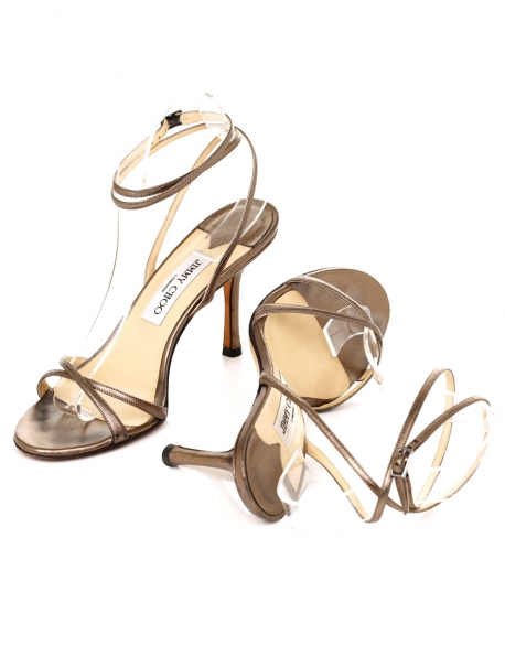 CHAUSSURE JIMMY CHOO A TALON BRONZE