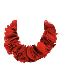 COLLIER FÉROCE TISSUS ROUGE