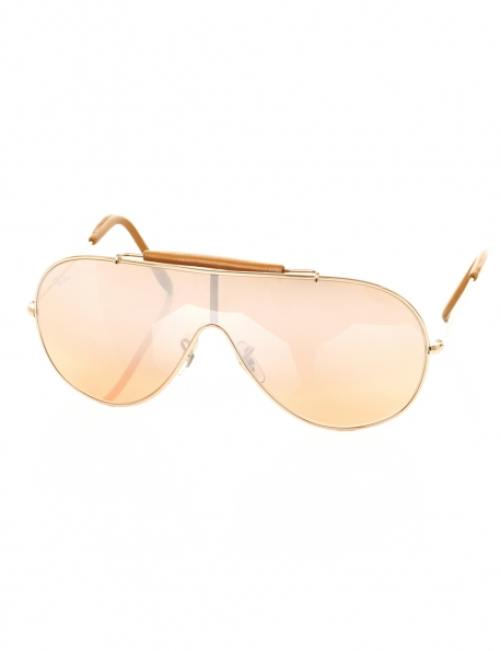 LUNETTES RAY-BAN MASQUE CAMEL BRANCHES CUIR