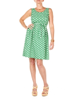 ROBE EMOI BY EMONITE VERTE A POIS BLANC COURTE T.S