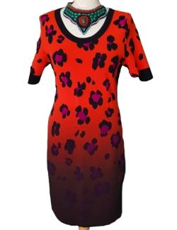 ROBE MARC CAIN ORANGE IMP. NOIT VIOLET M/C MI LONGUE T.L.